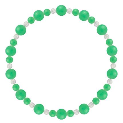 若緑色 | クリソプレーズ・水晶(クォーツ) 鳳凰(6mm)ブレスレット
