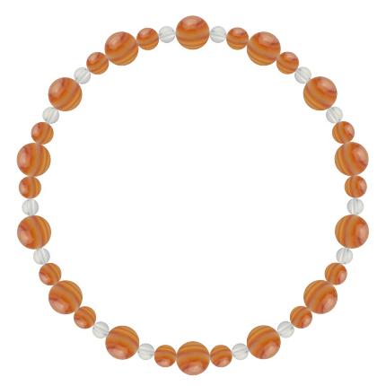 橙色 | サードオニキス・水晶(クォーツ) 鳳凰(6mm)ブレスレット