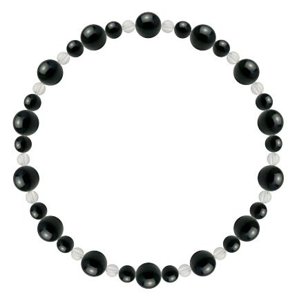 漆黒色 | ブラックトルマリン・水晶(クォーツ) 鳳凰(6mm)ブレスレット