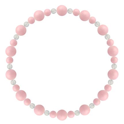 鴇色 | ピンクオパール・水晶(クォーツ) 鳳凰(6mm)ブレスレット