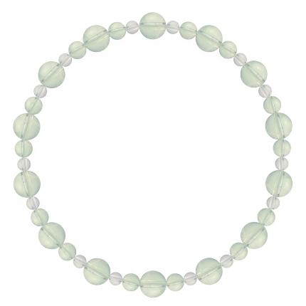 白緑色 | グリーンアメジスト・水晶(クォーツ) 鳳凰(6mm)ブレスレット