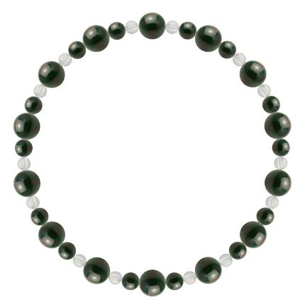 千歳緑色 | ブラッドストーン・水晶(クォーツ) 鳳凰(6mm)ブレスレット