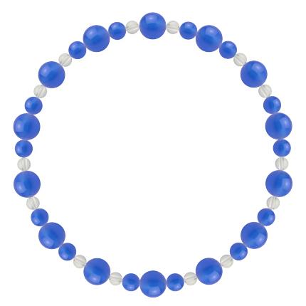 青色 | ブルーメノウ・水晶(クォーツ) 鳳凰(6mm)ブレスレット