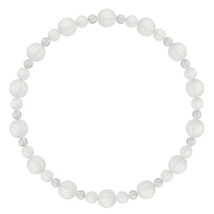 白色 | フロスティクォーツ・水晶(クォーツ) 鳳凰(6mm)ブレスレット