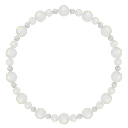 月白色 | ブルームーンストーン・水晶(クォーツ) 鳳凰(6mm)ブレスレット