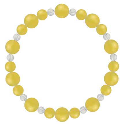 黄色 | イエローメノウ・水晶(クォーツ) 鳳凰(8mm)ブレスレット