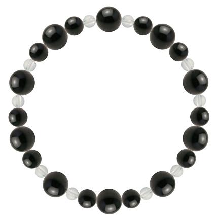 黒色 | オニキス・水晶(クォーツ) 鳳凰(8mm)ブレスレット