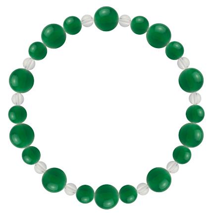 緑色 | グリーンメノウ・水晶(クォーツ) 鳳凰(8mm)ブレスレット
