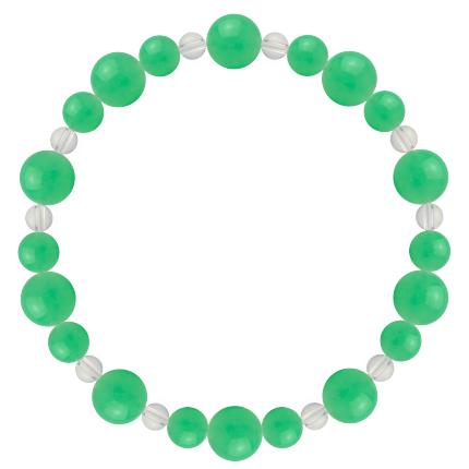 若緑色 | クリソプレーズ・水晶(クォーツ) 鳳凰(8mm)ブレスレット
