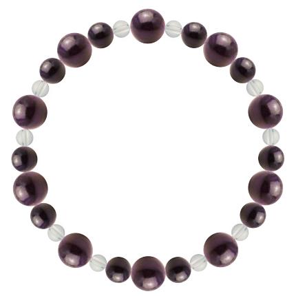 紫紺色 | スギライト・水晶(クォーツ) 鳳凰(8mm)ブレスレット