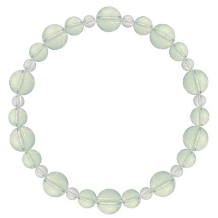 白緑色 | グリーンアメジスト・水晶(クォーツ) 鳳凰(8mm)ブレスレット