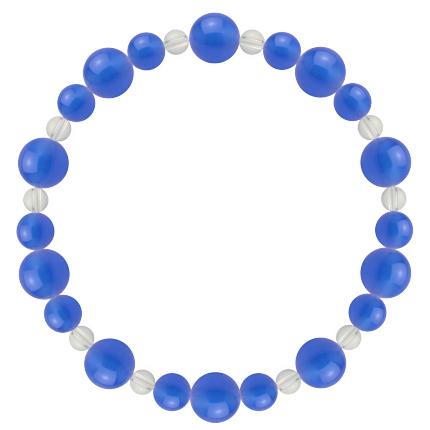 青色 | ブルーメノウ・水晶(クォーツ) 鳳凰(8mm)ブレスレット