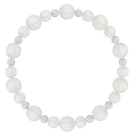 白色 | フロスティクォーツ・水晶(クォーツ) 鳳凰(8mm)ブレスレット