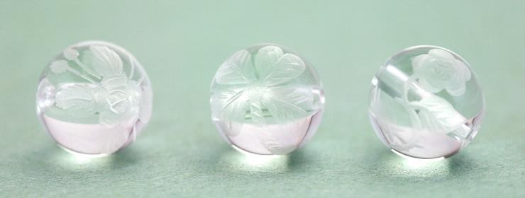 彫り水晶(8mm)の紹介ページです。