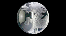 麒麟 彫り水晶(10mm)