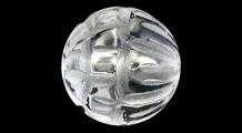 蓮華(レンゲ) 彫り水晶(8mm)