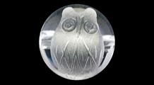 梟(フクロウ) 彫り水晶(10mm)