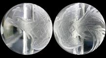 朱雀 彫り水晶(8mm)