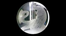 白虎 彫り水晶(10mm)