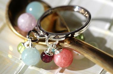 「絆」6ミリ玉オーダーメイドリング・指輪 左