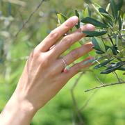 「絆」6ミリ玉オーダーメイドリング・指輪 右