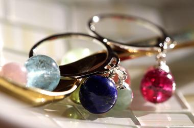 「絆」8ミリ玉オーダーメイドリング・指輪 左