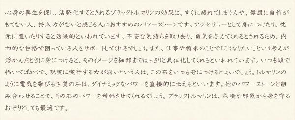 ブラックトルマリン・水晶(クォーツ)の文章2