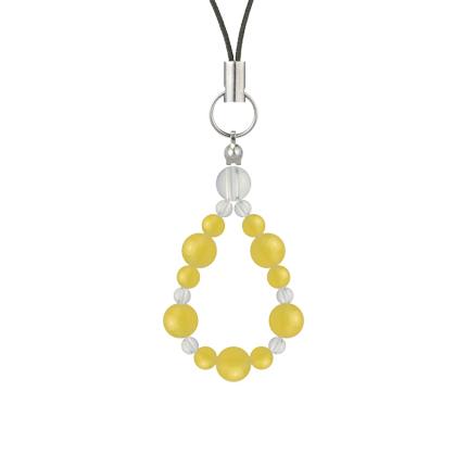 黄色 | イエローメノウ・水晶(クォーツ) 鳳凰(6mm)ストラップ