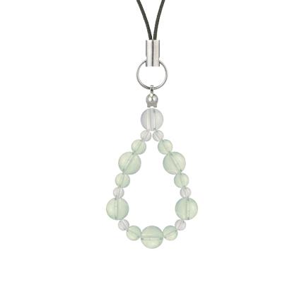 白緑色 | グリーンアメジスト・水晶(クォーツ) 鳳凰(6mm)ストラップ