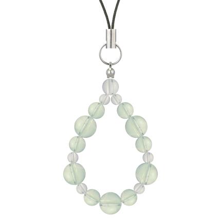 白緑色 | グリーンアメジスト・水晶(クォーツ) 鳳凰(8mm)ストラップ